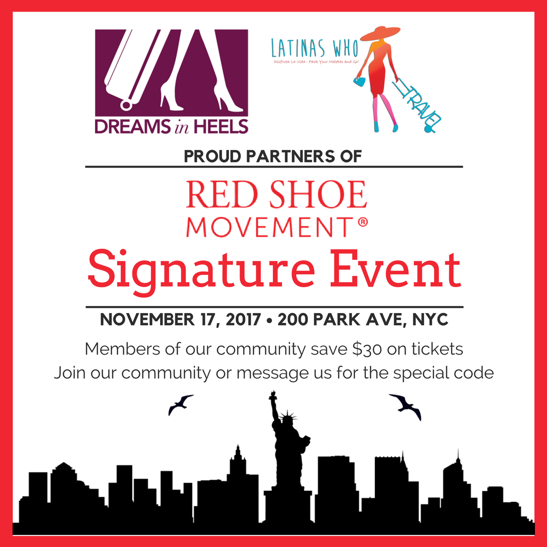Red Shoe Movement Signature Event - Met Life - NYC - Latinas Who Travel - Dreams in Heels