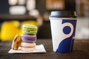 Coffee and macarons