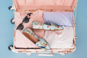 checked luggage suitcase